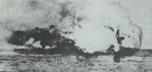 HMS Invincible blowing up
